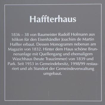 Tafel am Haffterhaus