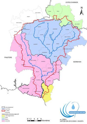 Les collectivités du bassin