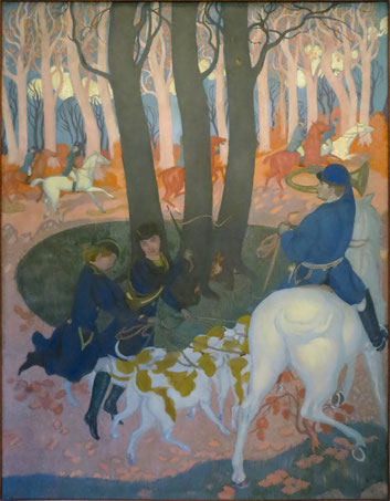 Second panel from The Legend of St. Hubert (1895-97)