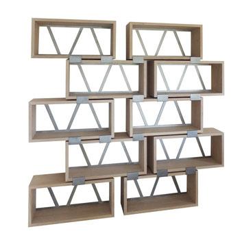 bibliothèque bois métal