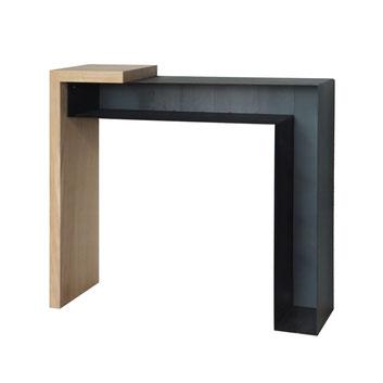 console konnect métal bois