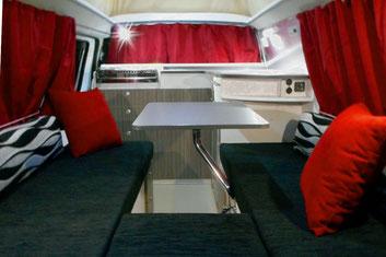 Interior Toyota Hiace Campervan