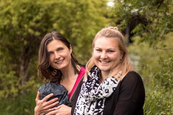 Moni Grad und Katharina Platzdasch (v.l.); Foto © V. Wendl