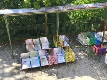 Garten Loczy-Institut: Schlafplatz der Krippenkinder