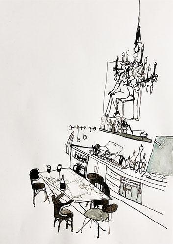 Nina Gross Zeichnung Kunst art Wohnräume