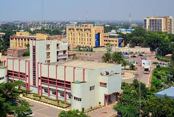 La città di Ouagadougou, capitale del Burkina Faso