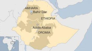 Mappa della regione etiope