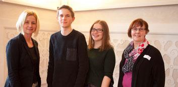 Friederike Betzner, Marek Hilbert, Merle Paetsch und Bettina Friedrich