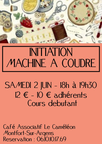 Atelier initiation Machine à coudre - Confection d'un sac à vrac  abri 2018
