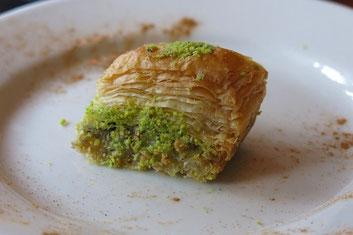 Das waren die persischen Baklava - total süß, aber echt lecker!