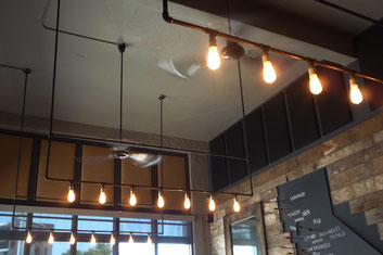 grant irish fabricated light fixtures from steel tubing