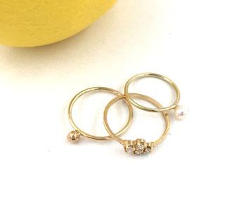 Feine Ringe aus 14 Karat Gold als Botschafter der Liebe,  von Astrid Siber