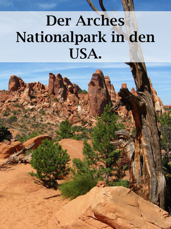 USA Reise: Arches Nationalpark im Westen der USA. #usareise