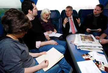 ... mit unserem Bundespräsidenten Heinz Fischer on tour (c) Andreas Wenzel 2010