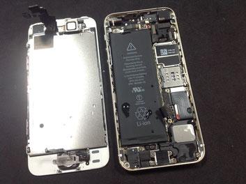 iPhone5s 水没状態