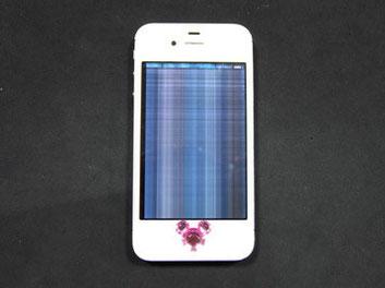 液晶が壊れたiPhone4s