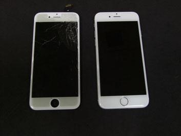 iPhone6ガラス割れ修理写真