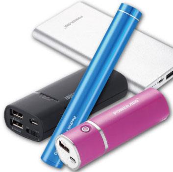 様々な種類のモバイルバッテリー