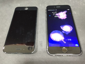 iPhone6液晶画面の修理完了