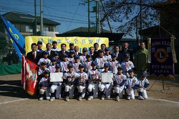 学童秋季大会(太田西ライオンズ杯)協賛