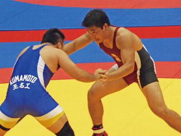 全国選抜に続き、メダルを獲得した吉澤(右)
