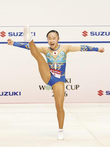 昨年のAG1女子シングル優勝に続き2連覇を飾った金子