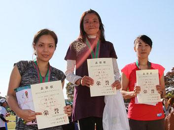 (写真左から)2位の細内さん、1位の奥木さん、3位の城所さん