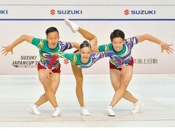 圧倒的な強さでトリオ優勝を飾った斉藤瑞己・北爪凜々・金井拓海