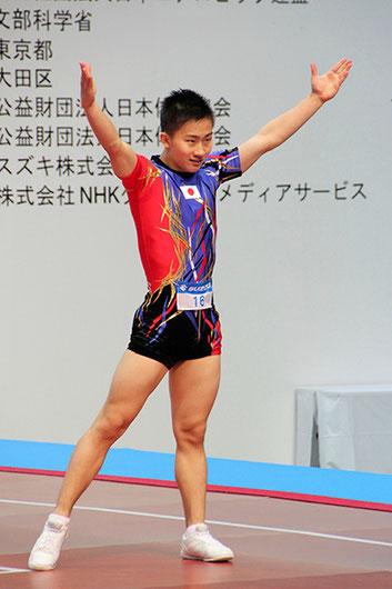 日本選手団念願の金メダルを獲得した斉藤