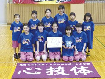女子Yリーグ第3位の尾島ミニバス