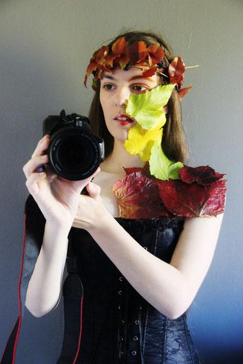 """Autoportrait pour un concours sur le thème """"Ma vraie Nature"""" - 2ème place"""