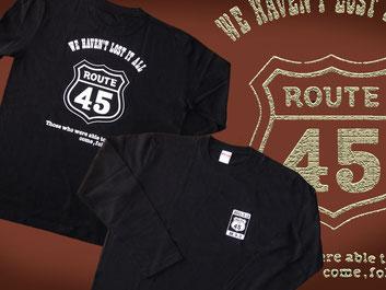 ルート45_Tシャツ(長袖)