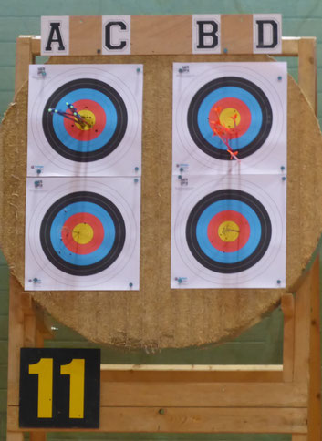 Bogenscheibe auf der Meisterschaft in Ditzingen