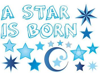 A star is born  blauw € 4,99