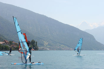 Windsurfen am Thunersee