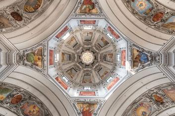 Salzbourg plafond de la cathédrale, Philippemenu,com
