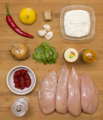 Chicken Tikka Masala selber machen Chicken Tikka Masala Originalrezept zubereiten Rezept