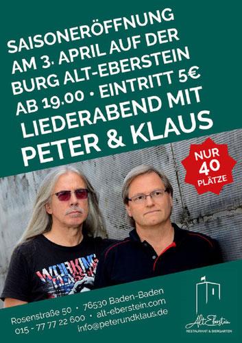 3.4.20 Alt Eberstein - jetzt am 3.4.  19:00 Uhr  als Live-Stream auf Facebook