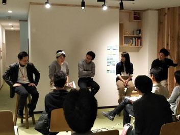4月13日の様子(各塾運営担当者によるクロストーク)