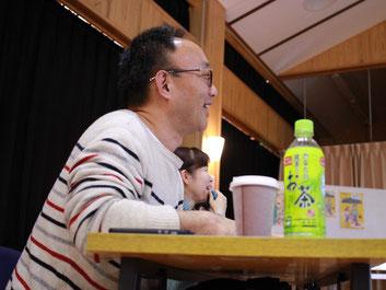 坂本一さん。第3期最終発表会にて。