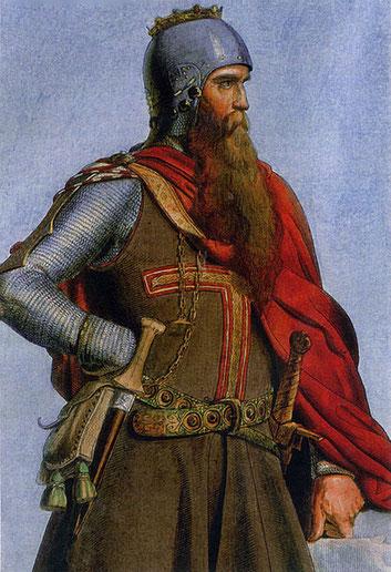 Kaiser Friedrich der Erste (Barbarossa) nach einem Bild von Christian Siedentopf von 1847