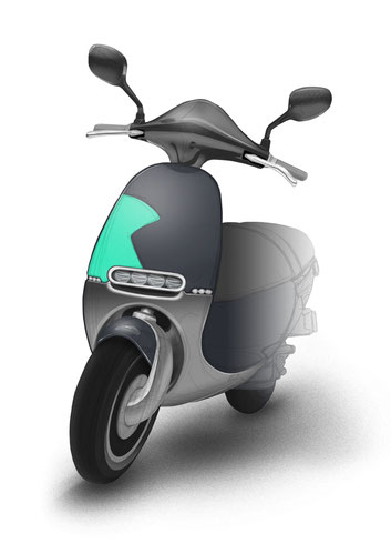 sketch training - e-scooter - affinitiy photo shop rendering - julian sterz