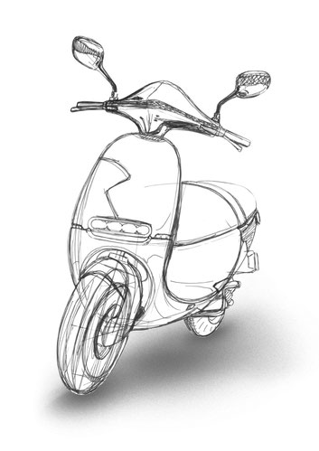 sketch training - e-scooter - sketch - julian sterz