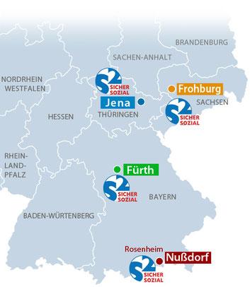 Sicher Sozial in Jena, Frohburg, Fürth, Nußdorf a. Inn
