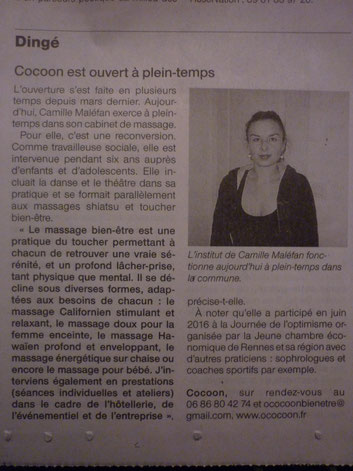cocoon article ouest france 2016