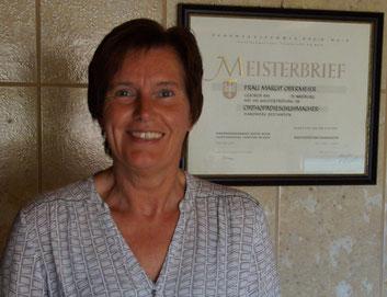 Obermeier Margit, Orthopädieschuhmachermeisterin
