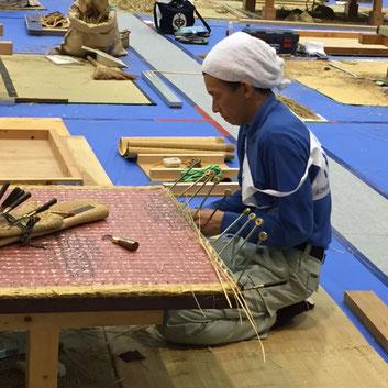 グランプリ畳製作の様子