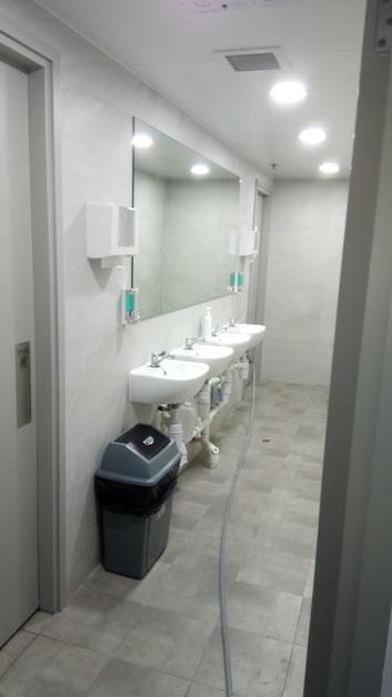 興建本地啤酒廠工程, 食品工場出牌 bathroom renovation done in a local brewery for food factory licence application HK