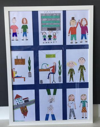 Das Exponat «Die Zukunft der Ungleichheit» stellt das Ziel 10 (Weniger Ungleichheit) dar. Es wurde von Aline Schaffer, Constantin Holstvoogd und Vanessa Portmann gemalt.