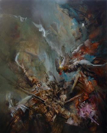 Passage du Styx Acrylique sur toile Dim 170cmx135cm